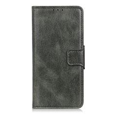 Leather Case Stands Flip Cover L02 Holder for LG Velvet 4G Midnight Green