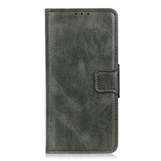 Leather Case Stands Flip Cover L02 Holder for LG Velvet 5G Midnight Green