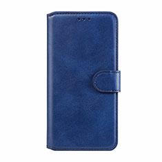 Leather Case Stands Flip Cover L02 Holder for Motorola Moto E6s (2020) Blue