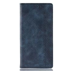 Leather Case Stands Flip Cover L02 Holder for Motorola Moto Edge Plus Blue