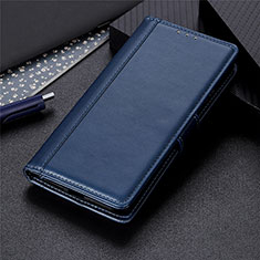 Leather Case Stands Flip Cover L02 Holder for Motorola Moto G8 Power Lite Blue