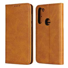 Leather Case Stands Flip Cover L02 Holder for Motorola Moto G8 Power Orange