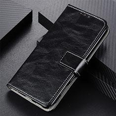Leather Case Stands Flip Cover L02 Holder for Motorola Moto G9 Power Black