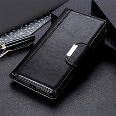 Leather Case Stands Flip Cover L02 Holder for Motorola Moto One Fusion Black