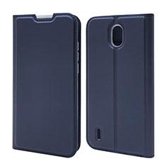 Leather Case Stands Flip Cover L02 Holder for Nokia 1.3 Blue