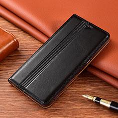 Leather Case Stands Flip Cover L02 Holder for Nokia 2.4 Black