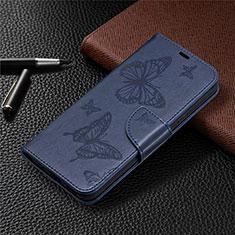 Leather Case Stands Flip Cover L02 Holder for Nokia 3.4 Blue