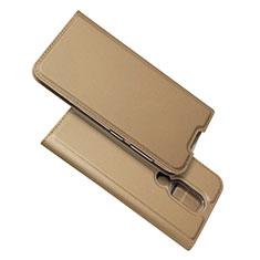Leather Case Stands Flip Cover L02 Holder for Nokia 4.2 Gold