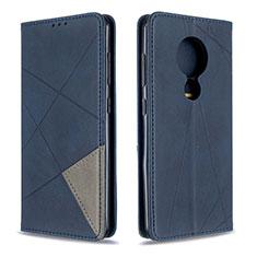 Leather Case Stands Flip Cover L02 Holder for Nokia 6.2 Blue