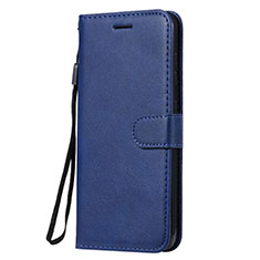 Leather Case Stands Flip Cover L02 Holder for Nokia 7.2 Blue