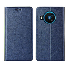 Leather Case Stands Flip Cover L02 Holder for Nokia 8.3 5G Blue