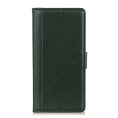 Leather Case Stands Flip Cover L02 Holder for OnePlus 7T Green