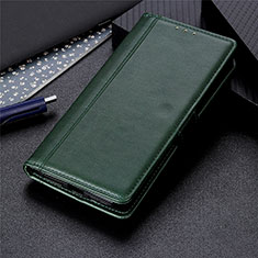 Leather Case Stands Flip Cover L02 Holder for Oppo A15 Green