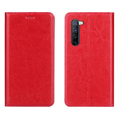 Leather Case Stands Flip Cover L02 Holder for Oppo Find X2 Lite Red