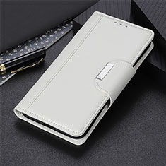 Leather Case Stands Flip Cover L02 Holder for Oppo Reno3 A White