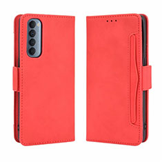 Leather Case Stands Flip Cover L02 Holder for Oppo Reno4 Pro 4G Red