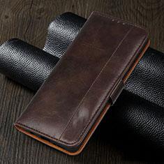 Leather Case Stands Flip Cover L02 Holder for Realme 5i Brown