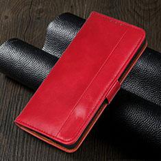 Leather Case Stands Flip Cover L02 Holder for Realme 5i Red