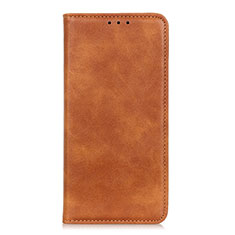 Leather Case Stands Flip Cover L02 Holder for Samsung Galaxy A01 Core Orange