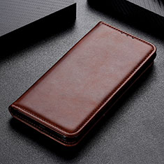 Leather Case Stands Flip Cover L02 Holder for Samsung Galaxy A31 Brown