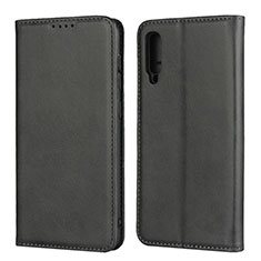 Leather Case Stands Flip Cover L02 Holder for Samsung Galaxy A50 Black