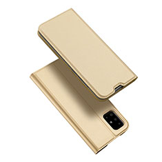 Leather Case Stands Flip Cover L02 Holder for Samsung Galaxy A51 5G Gold