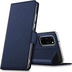Leather Case Stands Flip Cover L02 Holder for Samsung Galaxy S20 Plus 5G Blue