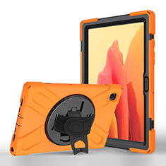 Leather Case Stands Flip Cover L02 Holder for Samsung Galaxy Tab A7 Wi-Fi 10.4 SM-T500 Orange