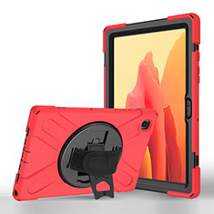 Leather Case Stands Flip Cover L02 Holder for Samsung Galaxy Tab A7 Wi-Fi 10.4 SM-T500 Red