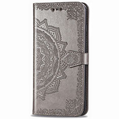 Leather Case Stands Flip Cover L02 Holder for Samsung Galaxy XCover Pro Gray