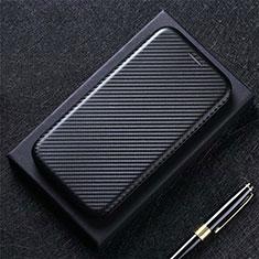 Leather Case Stands Flip Cover L02 Holder for Sharp AQUOS Sense4 Plus Black