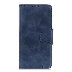 Leather Case Stands Flip Cover L02 Holder for Sony Xperia 8 Lite Blue