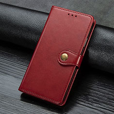 Leather Case Stands Flip Cover L02 Holder for Sony Xperia L4 Red