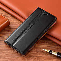 Leather Case Stands Flip Cover L02 Holder for Vivo X50e 5G Black