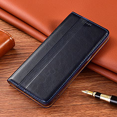 Leather Case Stands Flip Cover L02 Holder for Vivo X50e 5G Navy Blue