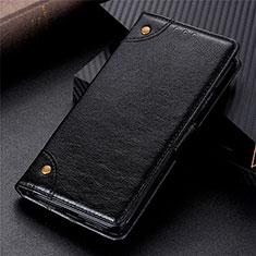 Leather Case Stands Flip Cover L02 Holder for Vivo Y12s Black