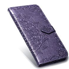Leather Case Stands Flip Cover L02 Holder for Xiaomi Mi Note 10 Lite Purple
