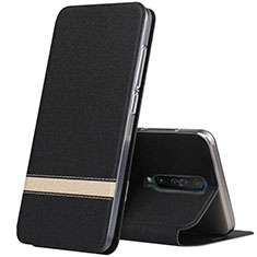 Leather Case Stands Flip Cover L02 Holder for Xiaomi Redmi K30 5G Black