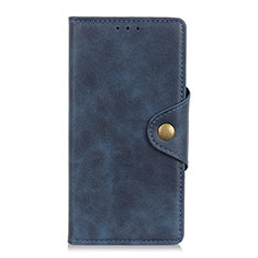 Leather Case Stands Flip Cover L02 Holder for Xiaomi Redmi Note 9 Pro Blue