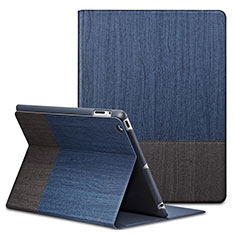 Leather Case Stands Flip Cover L03 for Apple iPad 2 Blue