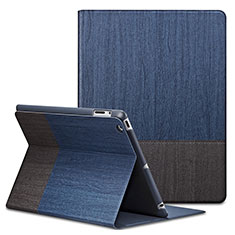 Leather Case Stands Flip Cover L03 for Apple iPad 4 Blue
