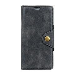 Leather Case Stands Flip Cover L03 Holder for Alcatel 1 Black