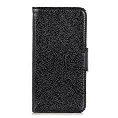 Leather Case Stands Flip Cover L03 Holder for Alcatel 1X (2019) Black