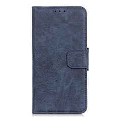 Leather Case Stands Flip Cover L03 Holder for Alcatel 3 (2019) Blue