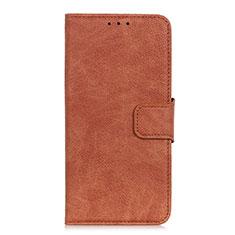 Leather Case Stands Flip Cover L03 Holder for Alcatel 3 (2019) Orange