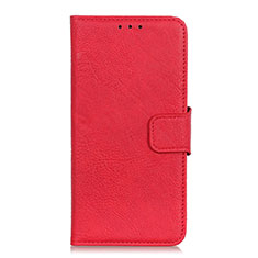 Leather Case Stands Flip Cover L03 Holder for Alcatel 3 (2019) Red