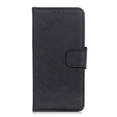 Leather Case Stands Flip Cover L03 Holder for Alcatel 3L Black