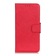 Leather Case Stands Flip Cover L03 Holder for Alcatel 3L Red
