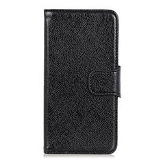 Leather Case Stands Flip Cover L03 Holder for Alcatel 3X Black