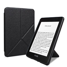 Leather Case Stands Flip Cover L03 Holder for Amazon Kindle 6 inch Black